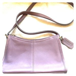 Coach VINTAGE 4104 Lavender Leather Crossbody Bag